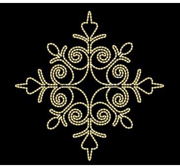 2D LED dekoracija SNAIGĖ 150 cm