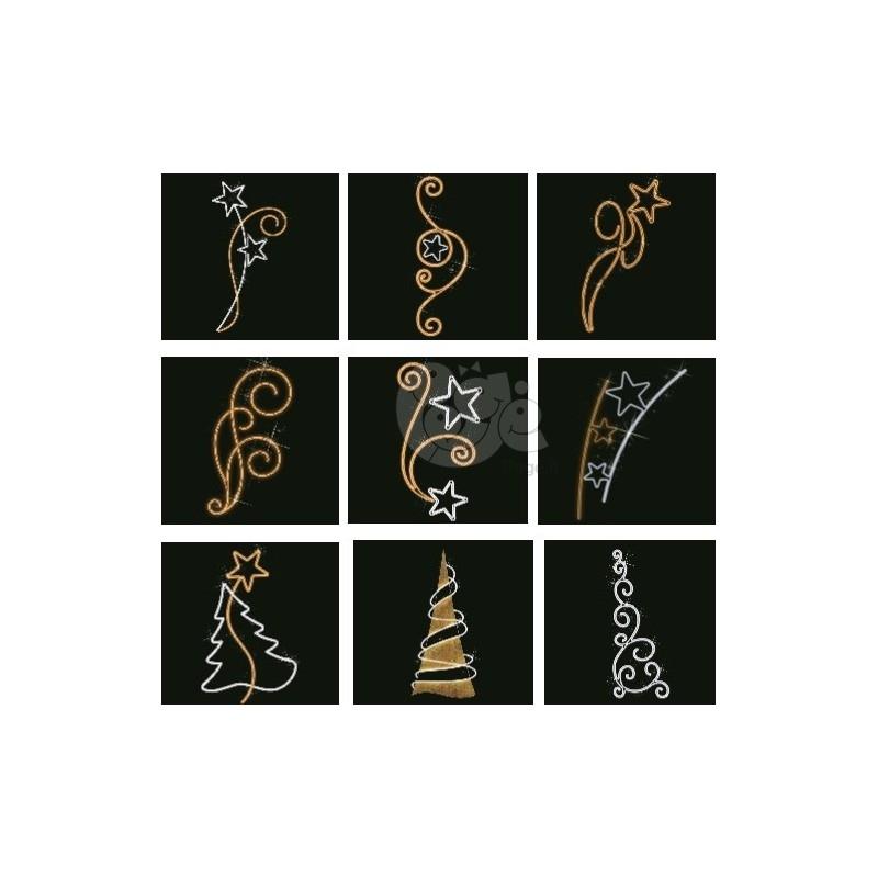 Pakabinamos žibintų dekoracijos