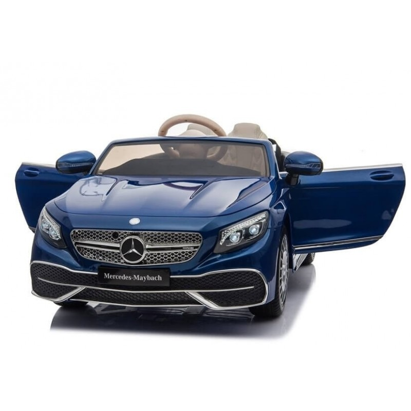 Elektromobilis MERCEDES MAYBACH 12V mėlynas lakuotas