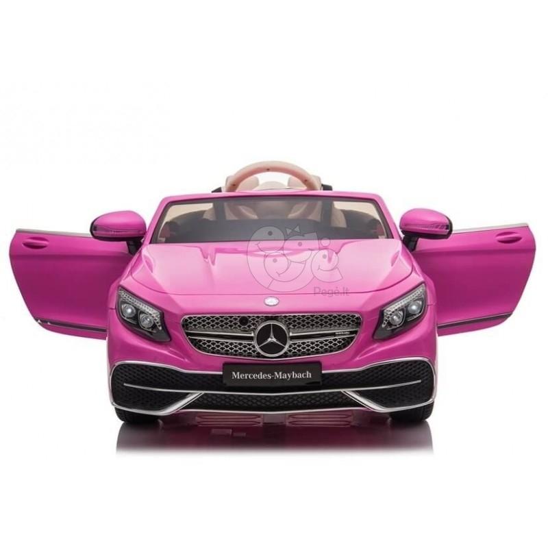 Elektromobilis MERCEDES MAYBACH 12V rožinis