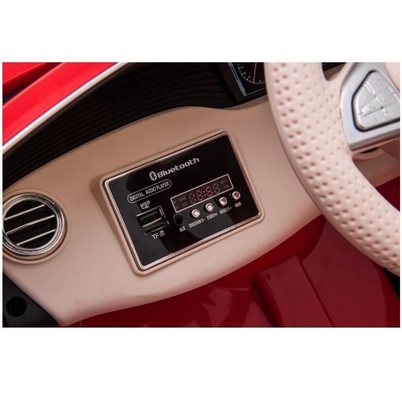 Elektromobilis MERCEDES MAYBACH 12V raudonas