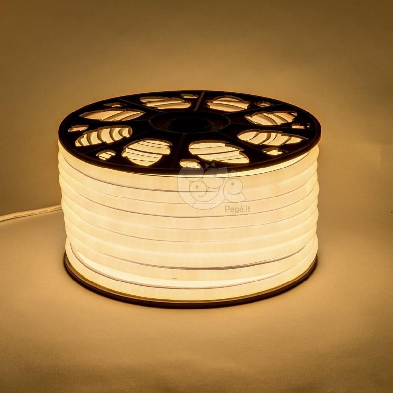 NEON LED šviečianti juosta šiltai balta 15 x 14 mm