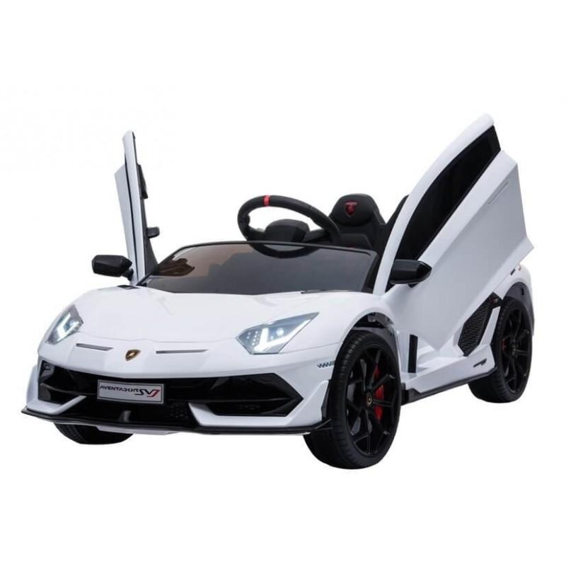 Elektromobilis LAMBORGHINI AVENTADOR 12 V baltas