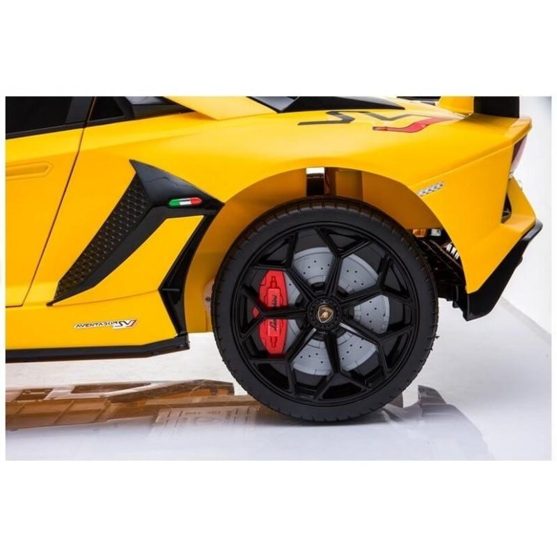Elektromobilis LAMBORGHINI AVENTADOR 12 V geltonas