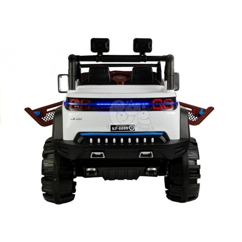 Elektromobilis JEEP KP-6699 4 x 45 W 12 V baltas