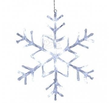 LED šviečianti snaigė 40 cm, 24 LED