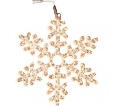 LED lauko šviečianti snaigė 50 cm, 216 LED, šiltai balta