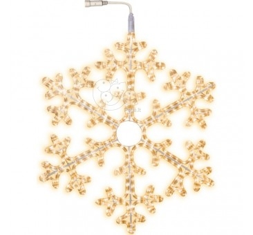 LED lauko šviečianti snaigė 75 cm, 360 LED, šiltai balta