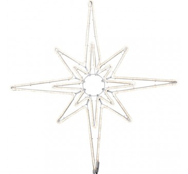 LED lauko šviečianti žvaigždė 87 cm, 360 LED, šiltai balta