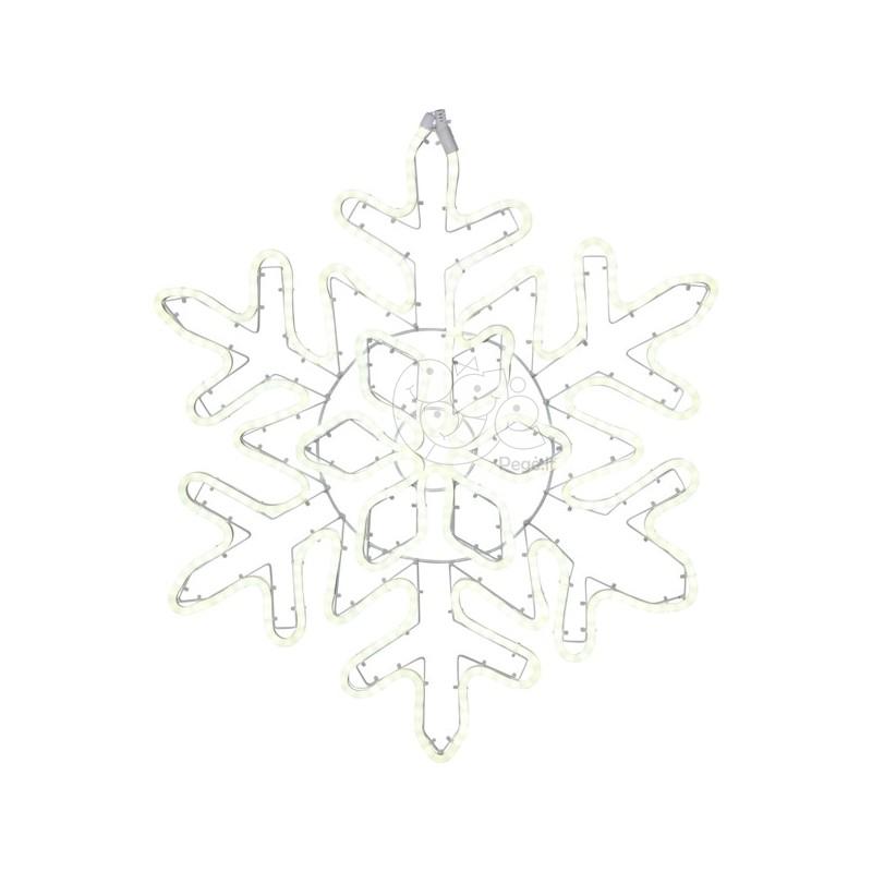 LED lauko šviečianti snaigė 80 cm, 480 LED, šaltai balta