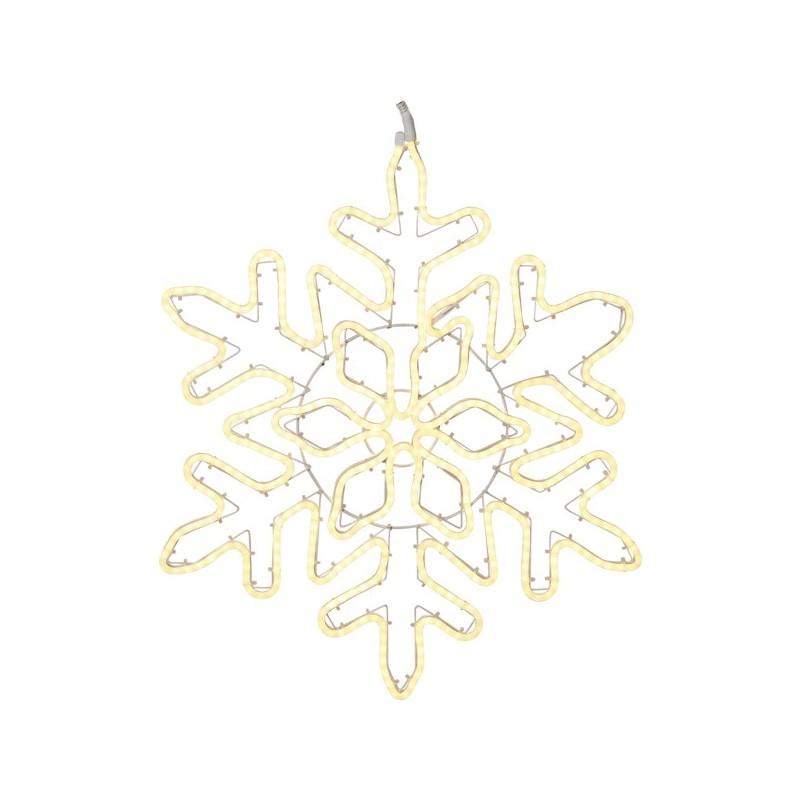 LED lauko šviečianti snaigė 80 cm, 480 LED, šiltai balta