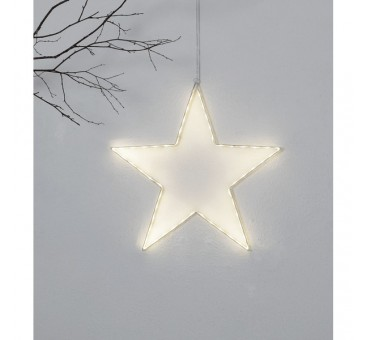 LED lauko šviečianti žvaigždė 50 cm, 54 LED, šiltai balta