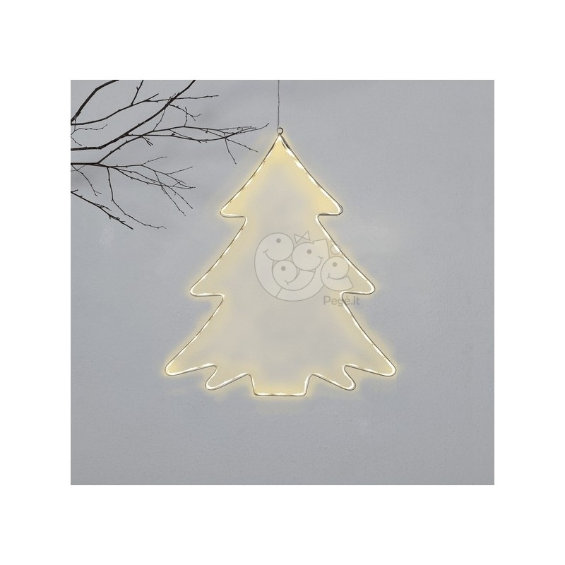 LED lauko šviečiančios eglutės dekoracija, 50 cm, 60 LED, šiltai balta