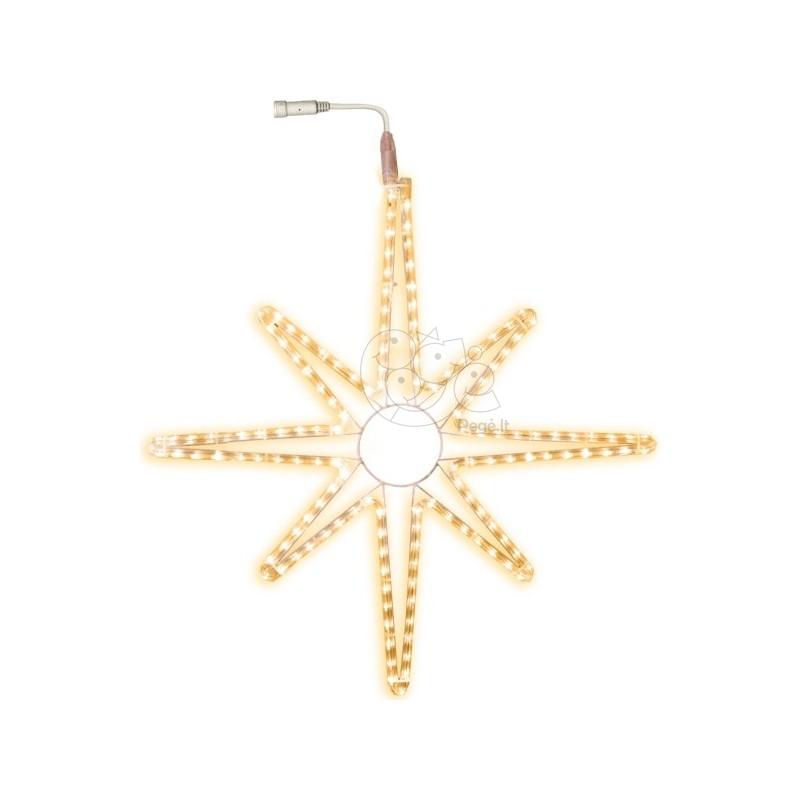 LED lauko šviečianti žvaigždė 75 cm, 144 LED, šiltai balta