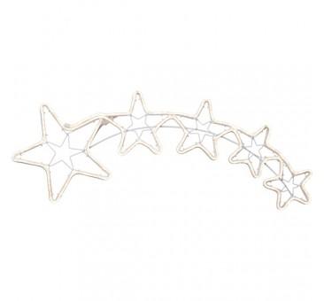 LED lauko krentančių žvaigždžių dekoracija, 99 cm, 240 LED, šiltai balta