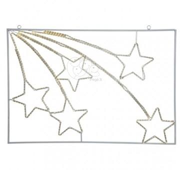 LED lauko žvaigždžių dekoracija, 110 cm, 600 LED, šiltai balta