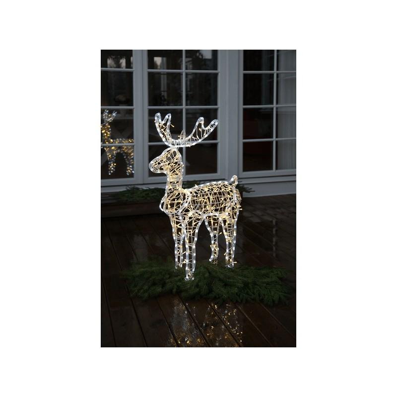 3D dekoracija elnias, 100/66 cm, 385 LED, šaltai ir šiltai baltas