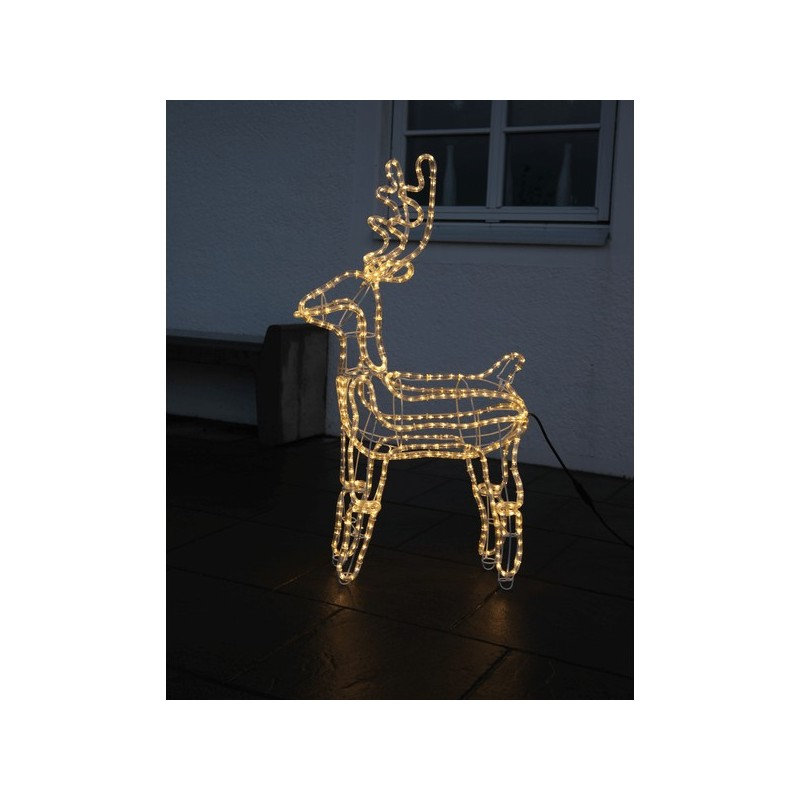 3D dekoracija elnias, 105/60 cm, 432 LED, šiltai baltas