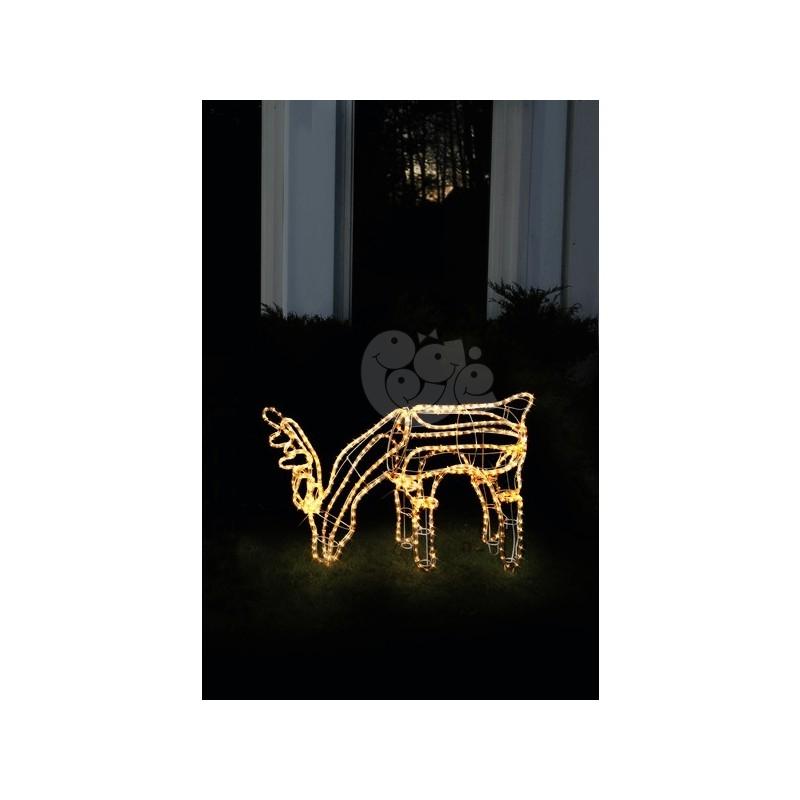 3D dekoracija elnias, 85/59 cm, 432 LED, šiltai baltas