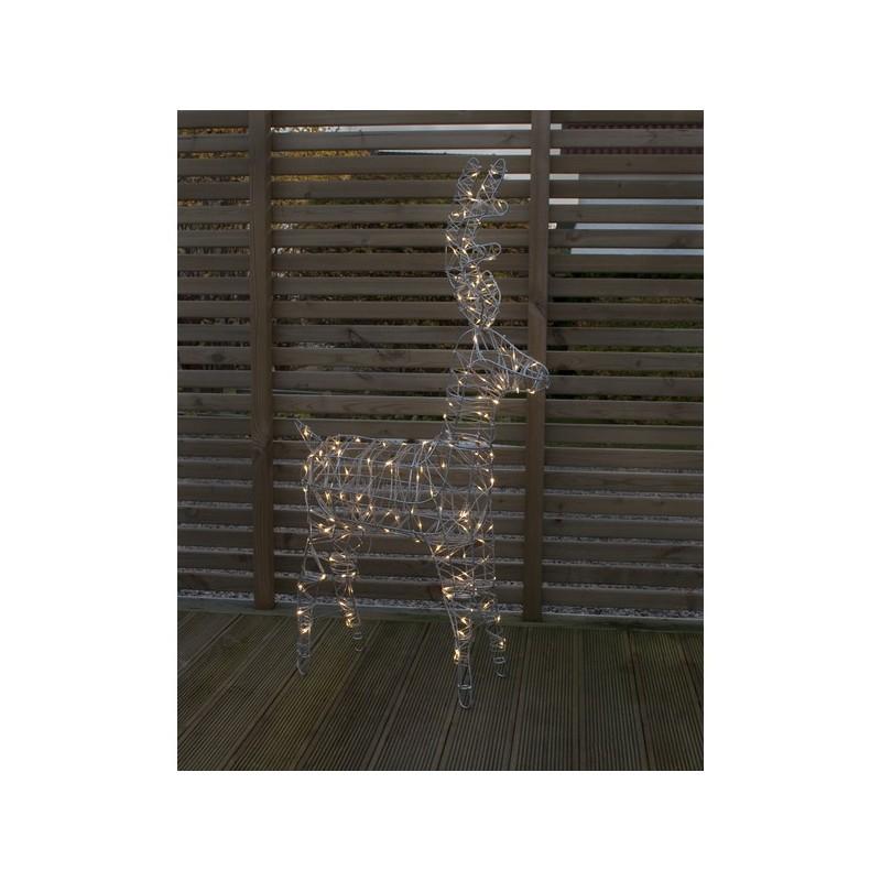 3D dekoracija elnias, 105/60 cm, 150 LED, šiltai baltas