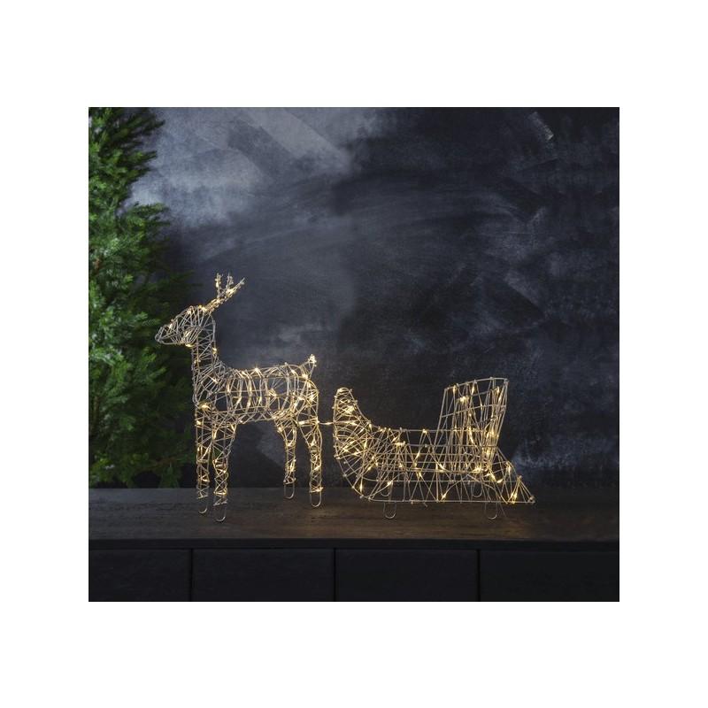 3D dekoracija elnias su rogėmis, 105/58 cm, 120 LED
