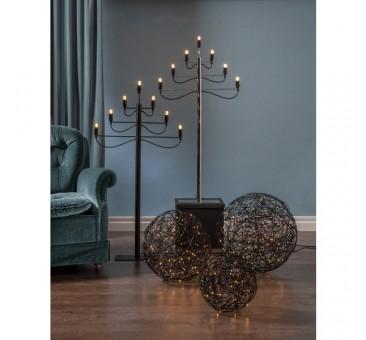 Kamuoliniai šviestuvai su LED  dekoracija, šiltai balta, 150 LED