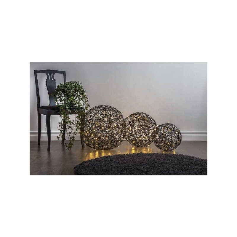 Kamuoliniai šviestuvai su LED dekoracija, šiltai balta, 100 LED