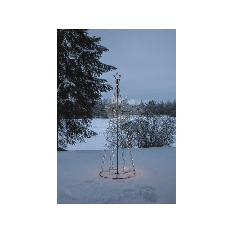 Eglutė iš LED lempučių, 210/75 cm, šiltai balta, 170 LED