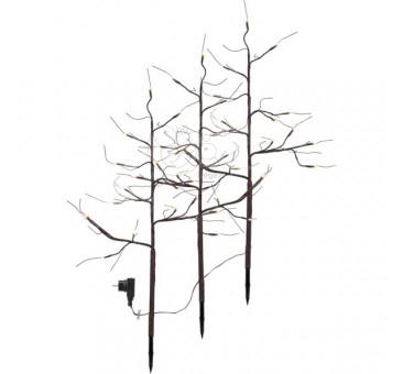Rudi šviečiantys dekoratyviniai medžiai, 48 LED, 75cm