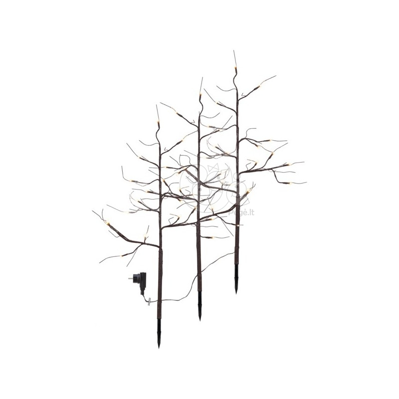 Rudas šviečiantis dekoratyvinis medis, 48 LED