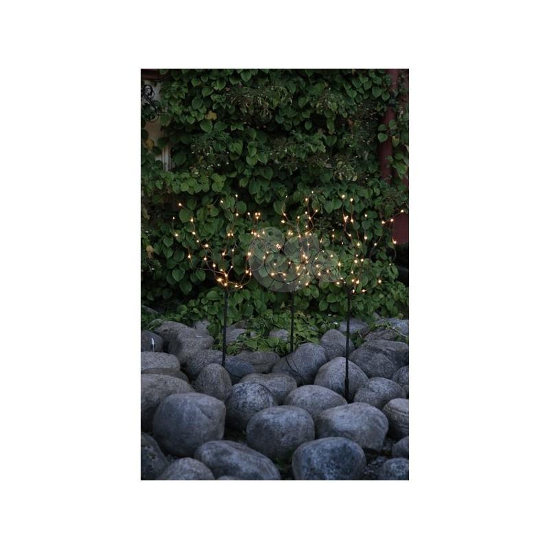 Rudas šviečiantis dekoratyvinis medis, 120 LED, 90 cm