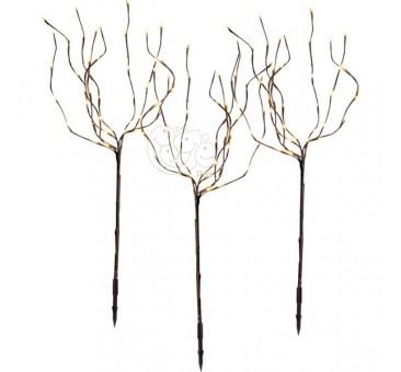 Rudi šviečiantys dekoratyviniai medžiai, 120 LED, 90 cm