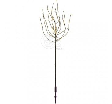 Rudas šviečiantis dekoratyvinis medis, 70 LED, 110 cm