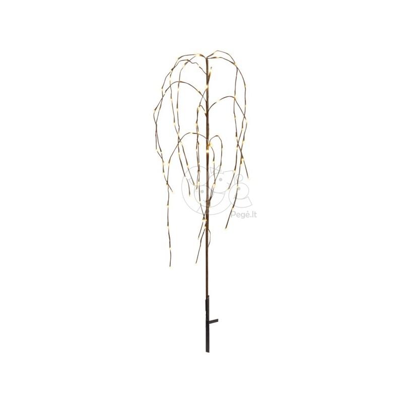 Rudas šviečiantis dekoratyvinis medis, 96 LED, 110 cm