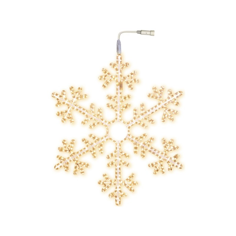 LED šviečianti snaigė 100 cm šiltai balta  504 LED