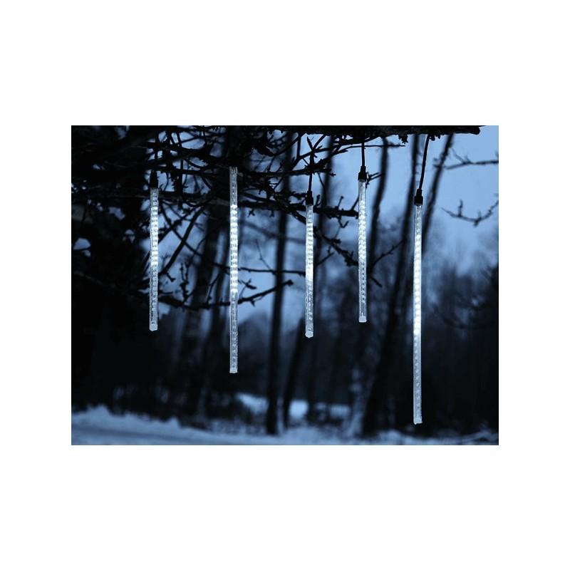LED girlianda krentantis sniegutis 7,5 m H 65 cm, šaltai balta