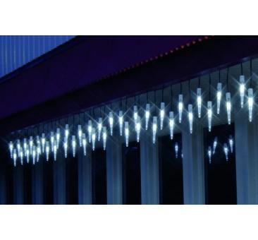 LED girlianda varvekliai 25 diodai, 4 m. H 40 cm, šaltai balta