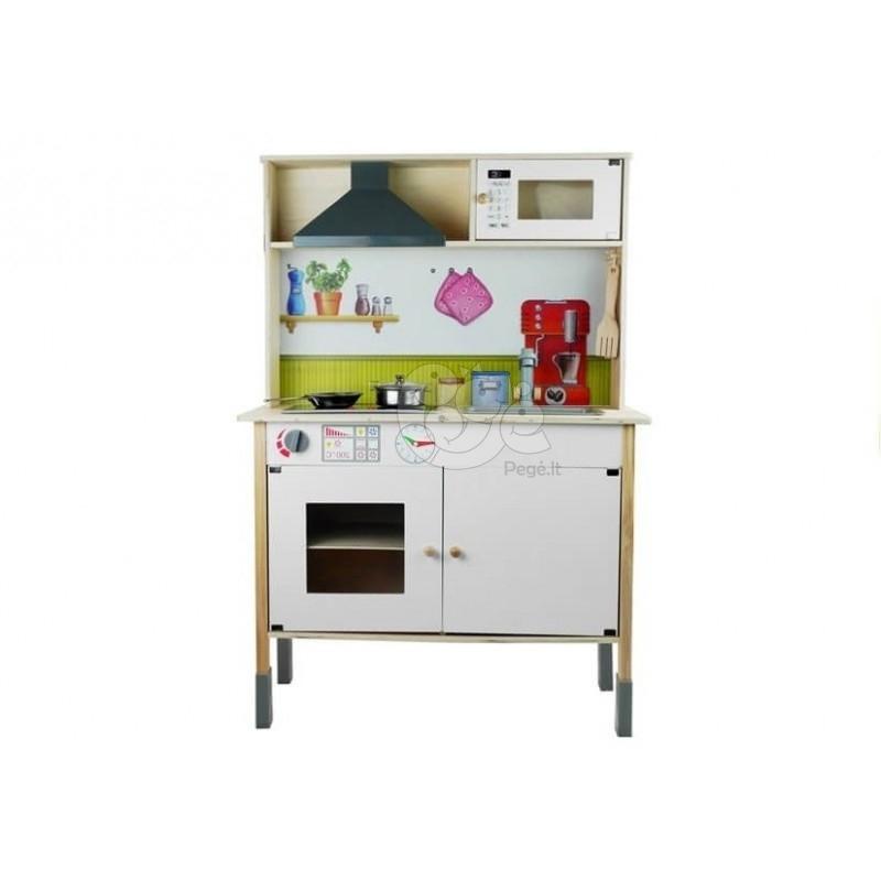 Medinė virtuvėlė Meggie su priedais