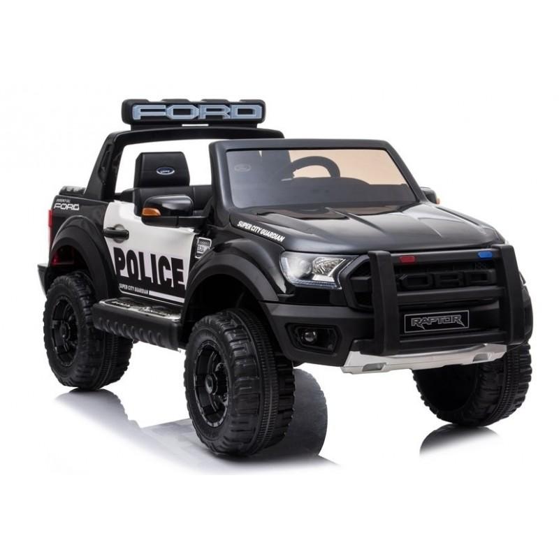 Elektromobilis FORD RAPTOR POLICE, 12V, juodas lakuotas