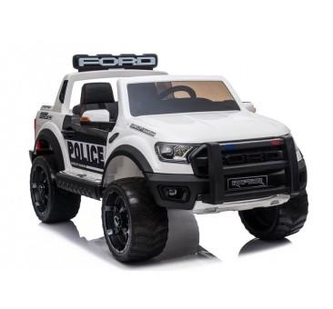 Elektromobilis FORD RAPTOR POLICE, 12V, baltas lakuotas