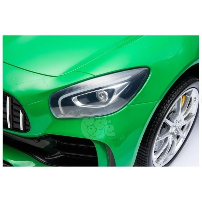 Elektromobilis MERCEDES GTR 4x4 2x12V žalias