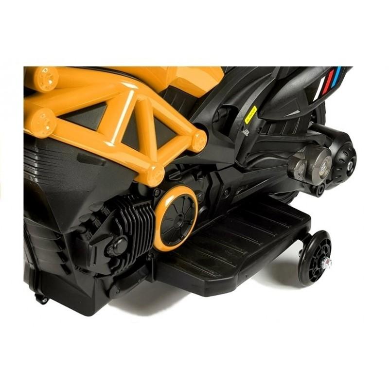 Elektromobilis motociklas GTM1188, geltonas