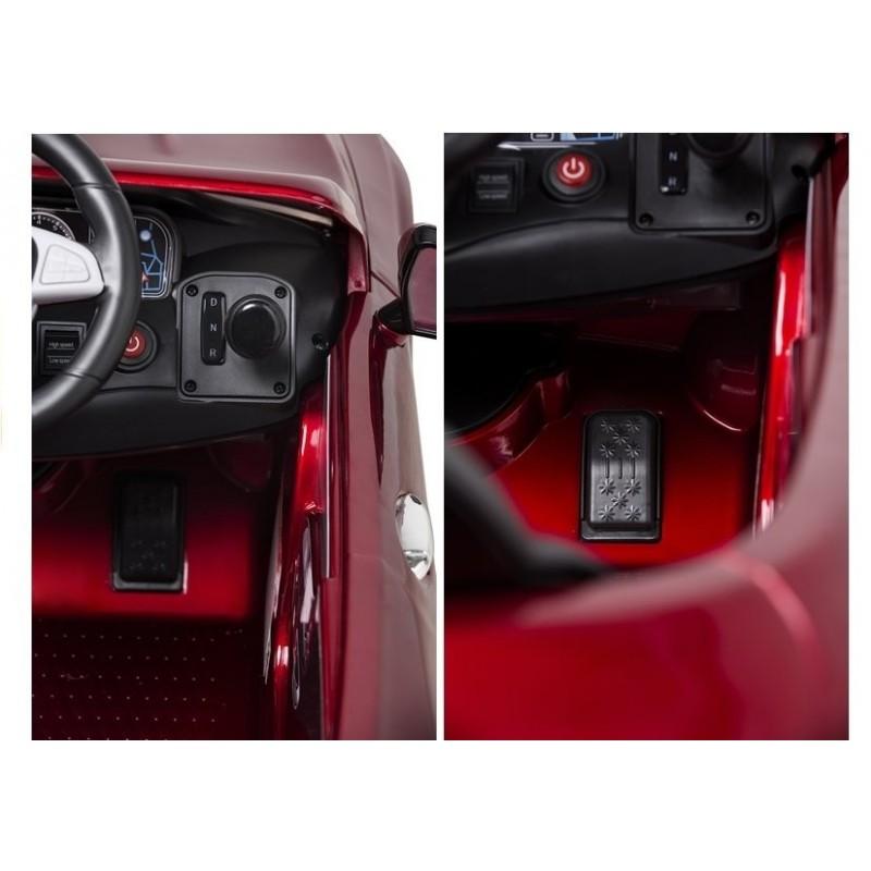 Elektromobilis MERCEDES S63, 12V, raudonas lakuotas