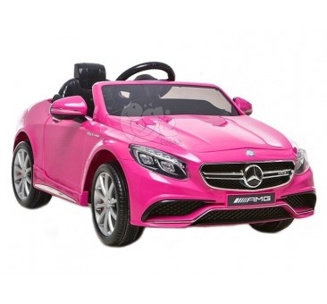 Elektromobilis MERCEDES S63, 12V, rožinis lakuotas