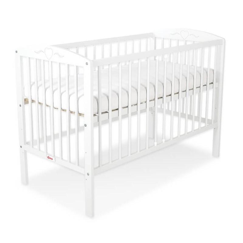 Vaikiška lovytė HEART 60 x 120, balta