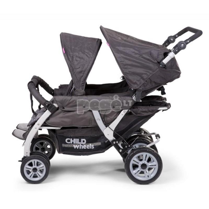 Keturvietis vežimėlis CHILDHOME QUADRUPLE