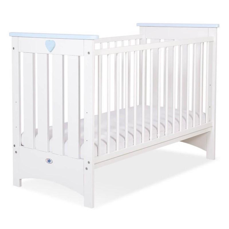 Vaikiška medinė lovytė LIZA, balta/mėlyna