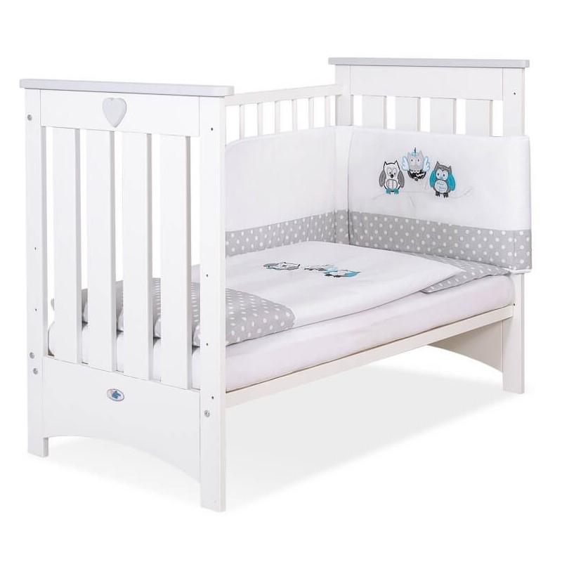 Vaikiška medinė lovytė LIZA, balta/pilka