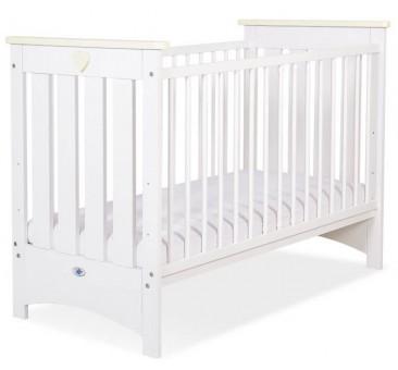 Vaikiška medinė lovytė LIZA, balta/kreminė
