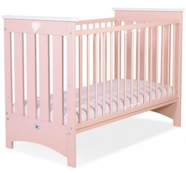 Vaikiška medinė lovytė ENZO, rausva
